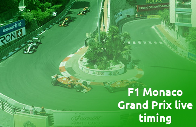 F1 Monaco Grand Prix live timing
